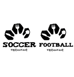 soccer and football restaurant vector image vector image