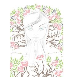 spiritual girl vector image vector image