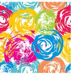 Summer bright grunge seamless pattern vector