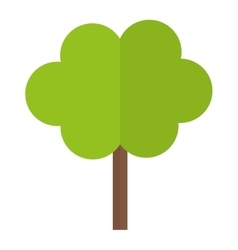 Tree in city scene icon image vector