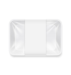 White transparent empty disposable plastic food vector