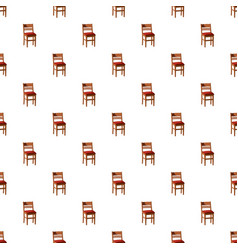 Wooden chair pattern vector