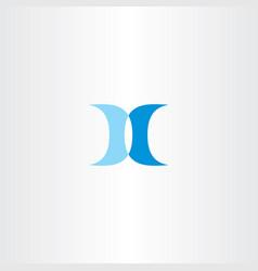 x letter logotype logo vector image vector image