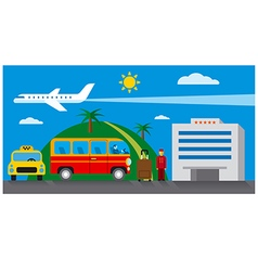 Hotel transfer and resort vector