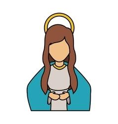 Mary cartoon of holy night design vector