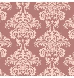 Vintage rococo floral ornament damask pattern vector