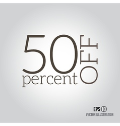 50 sale price off icon with 50 percent discount vector