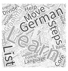 The ten steps in learning german through foreign vector