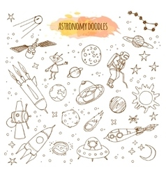 Astronomy hand drawn vector