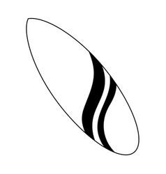 surfboard icon image vector image