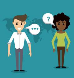 people communication talking world vector image