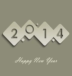 Abstract cube New Years wishes vector image