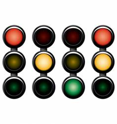 3-sections traffic-light vector