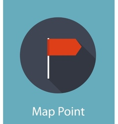 Map point flat icon concept vector