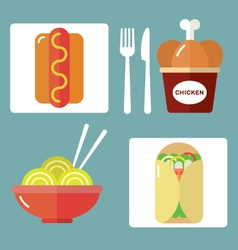 Takeaway set ii vector