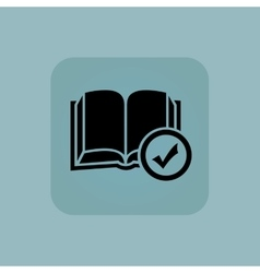 Pale blue select book icon vector