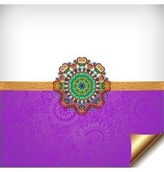 Violet greeting card for indian festival sisters vector