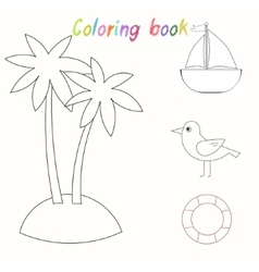 Coloring book for children vector