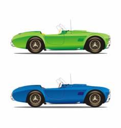 convertible cars vector image