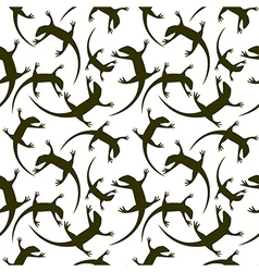 Seamless animal pattern with reptiles vector