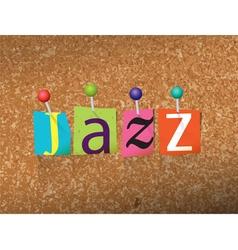 Jazz concept vector