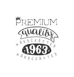 Handcrafted Clothing Vintage Emblem vector image