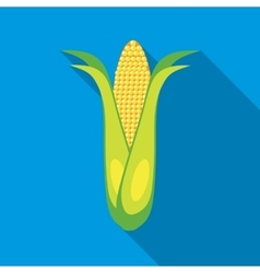 Corncob icon in flat style vector
