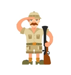 Hunter on isolated background vector