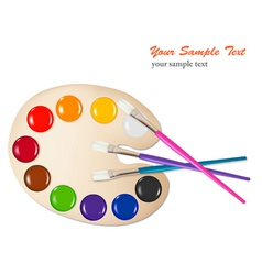 brush with color paint vector image