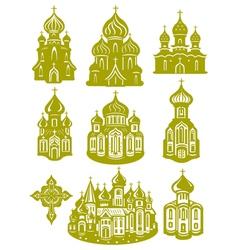 Church orthodox vector