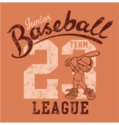 Cute baseball player vector image vector image
