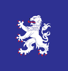 Flag of halland is one of the traditional vector