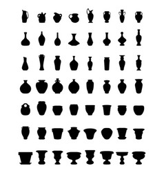 Flower pots and pottery vector