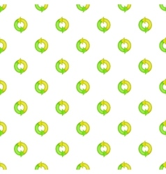 Green refresh arrows pattern cartoon style vector image