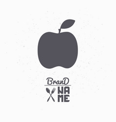 Hand drawn silhouette of apple vector