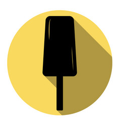 ice cream sign flat black icon with flat vector image vector image