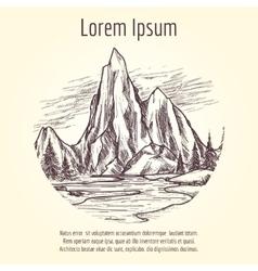 Landscape tourist banner design vector image