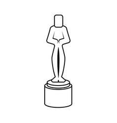 Male human shape trophy award icon image vector