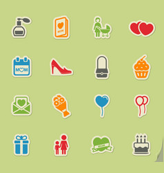 Mothers day simply icons vector