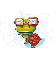 Print on a T-shirt with a turtle vector image vector image