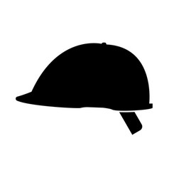 Safety helmet the black color icon vector