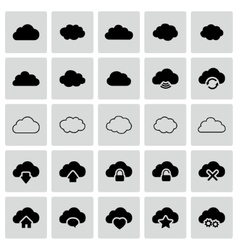 Set of isolated cloud icons vector image