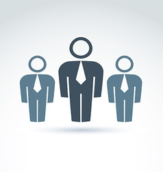 silhouettes of people standing in front - vector image vector image