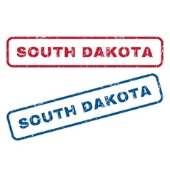 South dakota rubber stamps vector