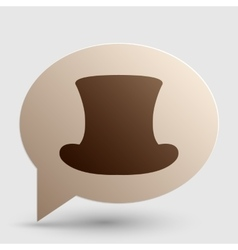 Top hat sign brown gradient icon on bubble with vector