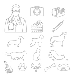 Veterinary clinic set with dog and cat and vector image vector image