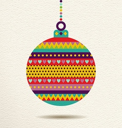 Christmas ornament bauble design in fun colors vector