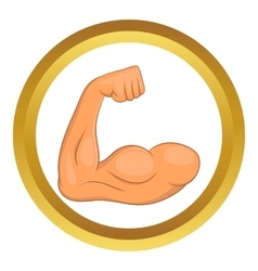 Biceps hands icon vector
