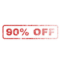 90 percent off rubber stamp vector image