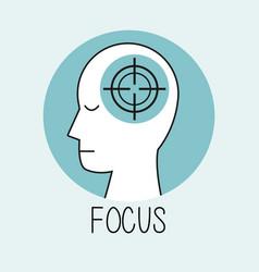 Profile human head focus vector